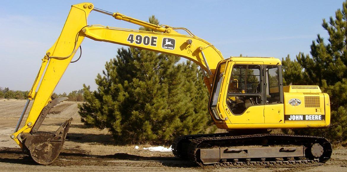 South Side Sand & Gravel's large 490E yellow John Deere Excavator